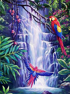 Cawing Painting - Tropical Paradise by Ed Breeding