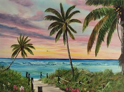 Tropical Paradise Art Print by Lloyd Dobson