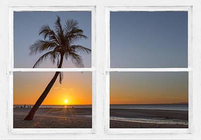Photograph - Tropical Paradise Morning Sunrise Whitewash Window View by James BO Insogna