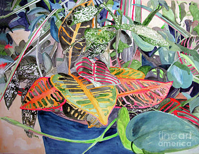 Painting - Tropical Planter by Sandy McIntire