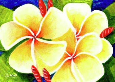 Tropical Plumeria Flowers #226 Art Print by Donald k Hall