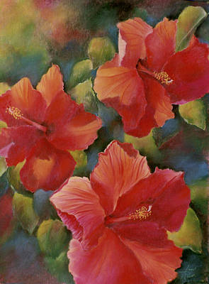 Art Print featuring the painting Tropical Punch by Ann Peck