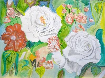 Tropical Rose Art Print by Cathy Jourdan