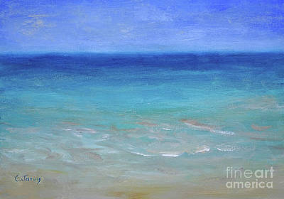 Painting - Tropical Sea by Carolyn Jarvis