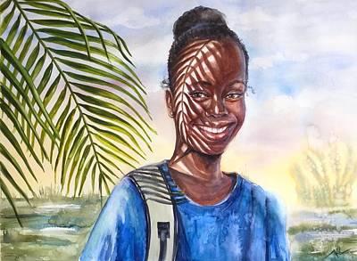 Painting - Tropical Smile by Katerina Kovatcheva