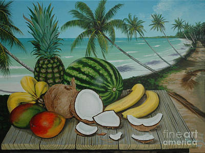 Painting - Tropical Still Life by Michael Nowak