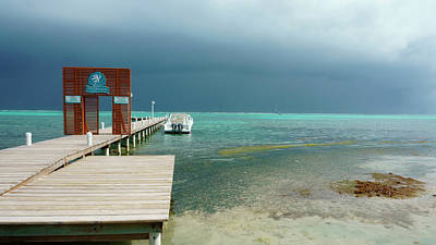 Photograph - Tropical Storm Ambergris Caye, Belize by Waterdancer