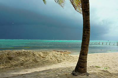 Photograph - Tropical Storm From The Beach On Ambergris Caye, Belize by Waterdancer