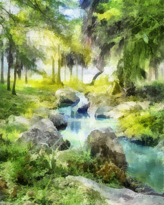 Digital Art - Tropical Stream by Francesa Miller