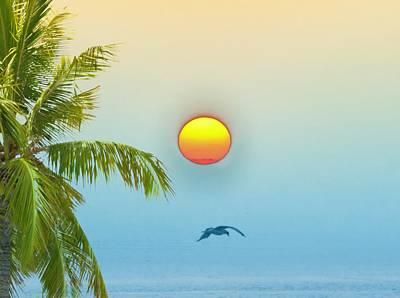 Key West Digital Art - Tropical Sun by Bill Cannon