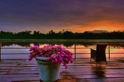 Photograph - Tropical Sunrise by Nadia Sanowar