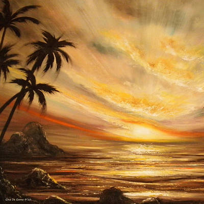 Painting - Tropical Sunset 65 by Gina De Gorna