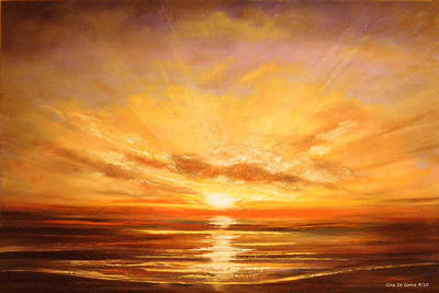 Painting - Tropical Sunset 75 by Gina De Gorna