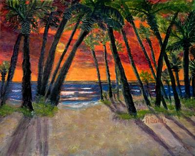 Painting - Tropical Sunset by Anne Sands