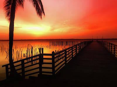 Tropical Sunset Art Print by Fanick Atchia
