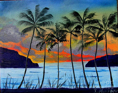 Tropical Sunset Art Print by Inna Montano