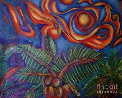 Tropical Sunset Art Print by Jamey Balester