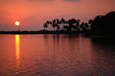 Asia Photograph - Tropical Sunset by Nila Newsom