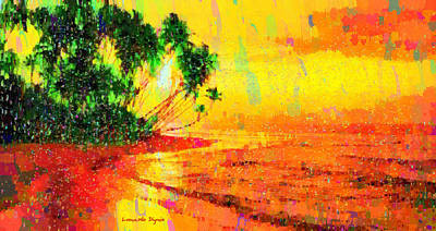 Maple Painting - Tropical Sunset - Pa by Leonardo Digenio