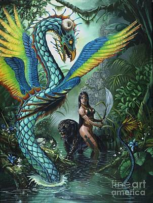 Dragon Painting - Tropical Temptress by Stanley Morrison