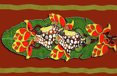 Painting - Tropical Treasure Card by Debbie Chamberlin
