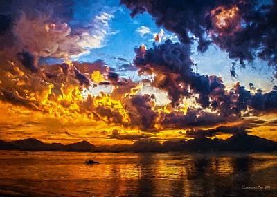 Digital Art - Tropical Twilight I by Charmaine Zoe