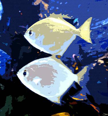 Marine Life Digital Art - Tropical Twins by David Lee Thompson