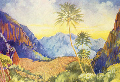 Painting - Tropical Vintage Hawaii by Hawaiian Legacy Archive - Printscapes
