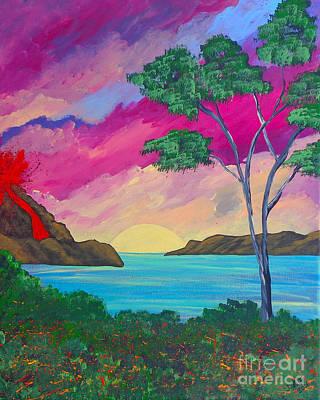 Tropical Volcano Art Print