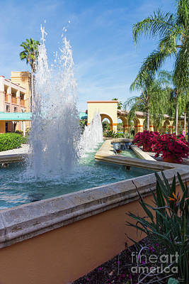 Photograph - Tropical Water Fountain by Jennifer White