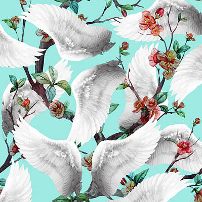 Tropical Wing Floral  Art Print