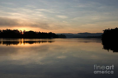 Photograph - Tropical Winter Dawn - Johnstone River Innisfail by Kerryn Madsen-Pietsch
