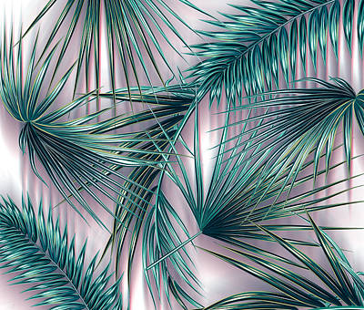 Tropical Leaves Digital Art - Tropicana  by Mark Ashkenazi