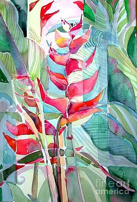 Drawing - Tropicana Red by Mindy Newman