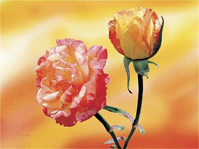 Tropicana Roses 2 Art Print by Jan Baughman