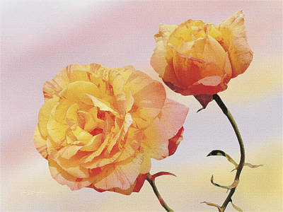 Tropicana Roses Art Print by Jan Baughman