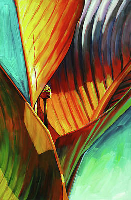 Art Print featuring the painting Tropicanna Canna by Lesley Spanos
