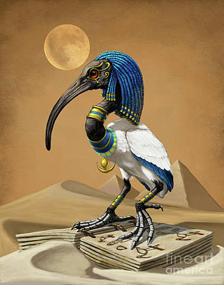 Digital Art - Thoth Egyptian God by Stanley Morrison