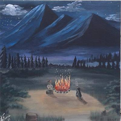 Bob Ross Style Painting - Troubadours by Lori Lafevers