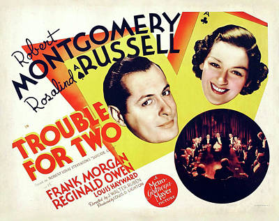 Trouble For Two 1936 Art Print