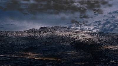 Digital Art - Troubled Waters by James Barnes