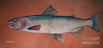 Painting - Trout by Andrew Drozdowicz