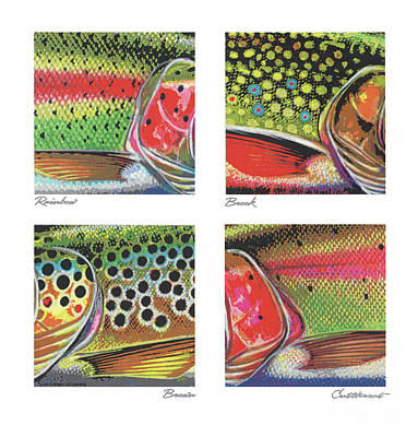 Painting - Trout Colors by Jon Q Wright