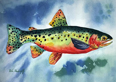 Painting - Trout by Hilda Vandergriff