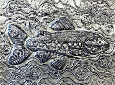 Metal Embossing Relief - Trout by Kimberly Piro