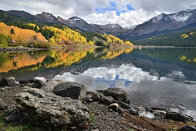 Photograph - Trout Lake Fall Reflection by Ray Mathis