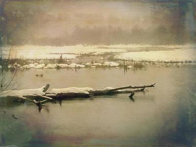Digital Art - Trout Lake - Winter by Debbie Smith
