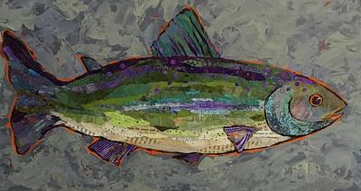 Painting - Trout by Phiddy Webb
