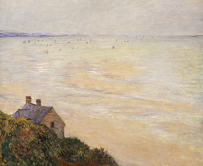 Shoreline Painting - Trouville At Low Tide by Claude Monet