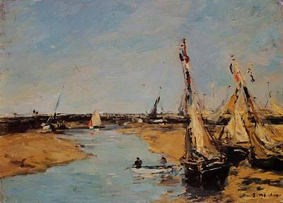 Trouville The Jettys At Low Tide Art Print